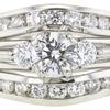 0.75 ct. Round Cut Bridal Set Ring, E, VS2 #3