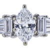 1.04 ct. Marquise Cut Solitaire Ring, D, SI2 #4