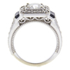 0.95 ct. Round Cut Bridal Set Ring, G-H, I1 #2