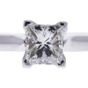 0.97 ct. Princess Cut Solitaire Ring, H, VS2 #4