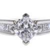1.22 ct. Princess Cut Bridal Set Ring, F-G, SI1 #1