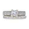 0.7 ct. Princess Cut Bridal Set Ring, F, VS2 #3