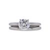 1.00 ct. Round Cut Bridal Set Ring, J, SI2 #4