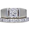 1.21 ct. Princess Cut Bridal Set Ring, E, SI2 #3