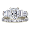 1.75 ct. Radiant Cut Bridal Set Ring, G, VS2 #1