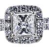 1.21 ct. Princess Cut Halo Ring, G, SI1 #2