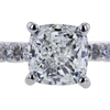 1.00 ct. Cushion Cut Solitaire Ring, G, VVS2 #4