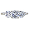 0.69 ct. Round Cut 3 Stone Ring, I, SI2 #3