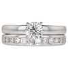 0.7 ct. Round Cut Bridal Set Ring, G, SI2 #3