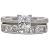 0.9 ct. Princess Cut Bridal Set Ring, G-H, VS1-VS2 #1