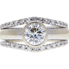 1.0 ct. Round Cut Bridal Set Ring, I, SI1 #3