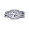 1.30 ct. Princess Cut Bridal Set Ring, H-I, SI1 #2