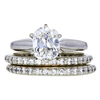 1.52 ct. Cushion Cut Bridal Set Ring, I, SI2 #3