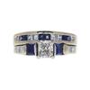 0.72 ct. Radiant Cut Bridal Set Ring, H, VS2 #3