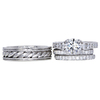 1.24 ct. Round Cut Bridal Set Ring, G, VS2 #3