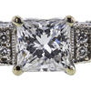 0.98 ct. Princess Cut Bridal Set Ring, F-G, I1 #1