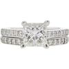 1.25 ct. Princess Cut Bridal Set Ring, F, SI1 #3