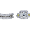 3.01 ct. Princess Cut Bridal Set Ring, I, SI1 #3