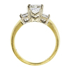1.01 ct. Princess Cut 3 Stone Ring #2