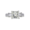 2.00 ct. Princess Cut 3 Stone Ring, J, SI1 #4