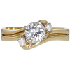 0.71 ct. Round Cut Bridal Set Ring, E, SI1 #3