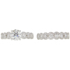 0.99 ct. Round Cut Bridal Set Ring, H, SI2 #3