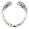 Hermes 18K White Gold Diamond Lima Pave Ring #2