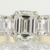 1.09 ct. Emerald Cut 3 Stone Ring #1