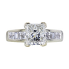 1.66 ct. Princess Cut Solitaire Ring, H-I, I1 #1