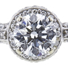1.04 ct. Round Cut Halo Ring, G, SI1 #4