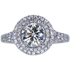 1.03 ct. Round Cut Halo Ring, J, SI1 #3