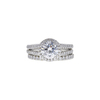 1.58 ct. Round Cut Bridal Set Ring, F, VS2 #3