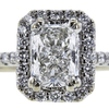 1.03 ct. Radiant Cut Halo Ring, F, SI1 #3