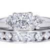 1.00 ct. Princess Cut Bridal Set Ring #3