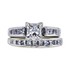 0.96 ct. Princess Cut Bridal Set Ring, I, SI2 #2