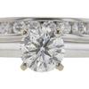 0.92 ct. Round Cut Bridal Set Ring, G, I1 #4