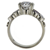 0.87 ct. Round Cut Bridal Set Ring, H-I, I1 #3