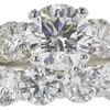 2.01 ct. Round Cut Bridal Set Ring, H, VS2 #4