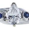 1.06 ct. Pear Cut Bridal Set Ring, E, SI2 #4