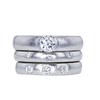 0.51 ct. Round Cut Bridal Set Tiffany & Co. Ring, F, SI1 #1