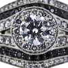 1.01 ct. Round Cut Bridal Set Ring, E, SI2 #4