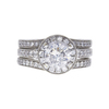 1.52 ct. Round Cut Bridal Set Ring, E-F, I3 #2