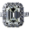 4.01 ct. Emerald Cut Halo Ring #4