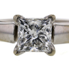 0.99 ct. Princess Cut Bridal Set Ring #3