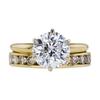 2.70 ct. Round Cut Bridal Set Ring, E, I2 #3