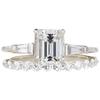 2.02 ct. Emerald Cut Bridal Set Ring, F, VS2 #2