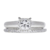 1.0 ct. Princess Cut Bridal Set Ring, F, SI1 #3