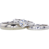 0.90 ct. Round Cut Bridal Set Ring #1