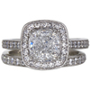 1.71 ct. Cushion Cut Halo Ring, F, SI1 #3