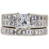 1.28 ct. Princess Cut Bridal Set Ring, F, SI2 #3